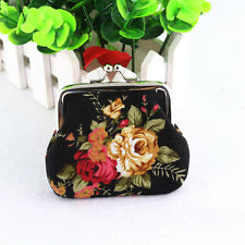 Womens Coin Bag Card Holder Retro Floral Clutch Wallet Small Mini Purse Handbag