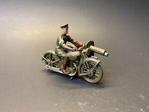 Vintage Original Britains Lead WW2 Style Motorcycle with Machine Gun Sidecar