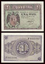 España - Spain  1 Peseta 30-4-1938 Pick 108  SC = UNC