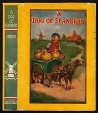 1927 Art signed Frances Brundage dust jacket book cover A Dog of Flanders