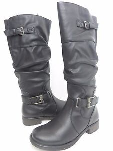 NWB BARE TRAPS STILLERSYNTHETIC KNEE HIGH BOOT BLACK RELAX MSRP $109