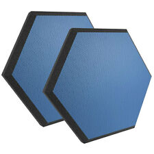 "Ultimate Acoustics UA-HX-24BL Hex Series 24"" Hexagon Foam Wall Panel Pair Blue V"