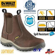DeWALT Steel Toe Chelsea Pull-on Work Boots Slip resistant Boot ASTM EH Rated