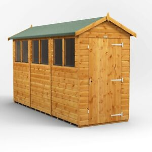 12x4 Power Apex Garden Shed | 4x12 Power Sheds | Super Fast 2-3 Day Delivery