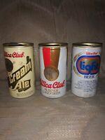 3 Utica Club Vintage VTG Beer Cans 12 Oz West End Brewing Company Man Cave...