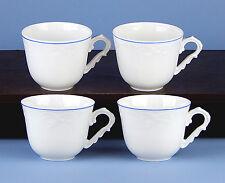 Set of 4 Cups (8 oz.) SUPERB! Manueline Blue, Vista Alegre, Portugal