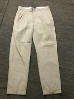 Polo Ralph Lauren Mens 34 x 32 (ACTUAL 34 x 31) Hammond Pants Pleated Beige