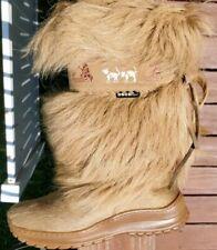 Oscar Sport Real Fur Boots Snow Mukluks Brown Tan Mid Calf Size 10 M, Eur 40