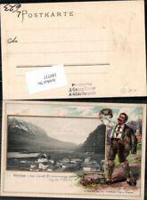 189737,Präge Litho Walchsee in Tirol Serie Bauernbube pub Blaschke