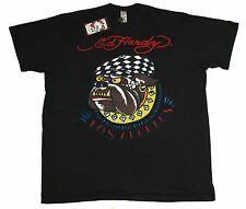 Bnwt Authentic Men's Ed Hardy Bulldog T Shirt XXXL 3XL New Black Big Tall