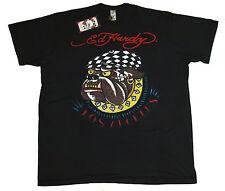 Bnwt Authentic Mens Ed Hardy Bulldog T Shirt XXXL 3XL New Black Big Tall