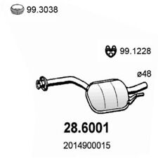 Mercedes-Benz 190 W201 Mittelschalldämpfer 28.6001