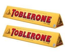 Lot de 2 toblerone de 360 grammes au chocolat au lait, livré neuf emballé (PR).