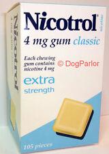 Nicotrol 4mg CLASSIC Nicotine Gum 1 Box 105 Pieces