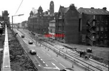 PHOTO  1991 METROLINK CONSTRUCTION LONDON ROAD MANCHESTER LOOKING SOUTH EAST FRO