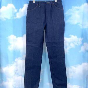 Vintage NOS Rustler Dark Blue Jeans 34 X 34 Regular Fit Straight Leg USA