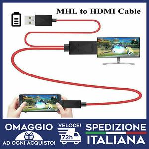 CAVO HDMI MHL MICRO USB TIPO C IPHONE IPAD USCITA  HD 1080P MULTIPORTA  🇮🇹