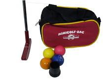 Minigolf-Set Minigolfschläger 4 Minigolfbälle Balltasche