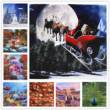 Christmas Fleece Throw Blanket Santa Claus's Reindee printed Xmas Gift