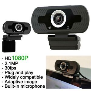 USB HD 1080P Desktop Computer Laptop PC Webcam Camera w/Mic for Windows Mac OS