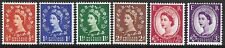 SG561-6 1957 WILDINGS SET - GRAPHITE LINED ISSUE, M/MINT