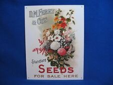 "D.M. Ferry & Co's ""Standard Seeds For Sale"" 16x13 TIN SIGN NEW"