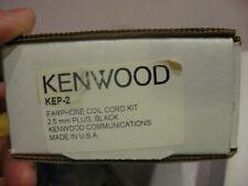 NEW Original OEM Kenwood Earphone Coil Cord Kit 2.5MM black / model#- KEP-2