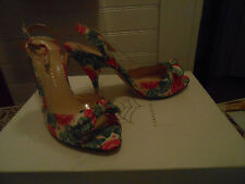 Charlotte Olympia open toe fabric, plastic and leather  IT sz 40 new with box