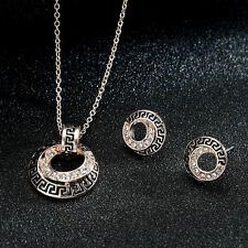 Wedding Bridal Dress Accessories Jewelry Sets Rhinestone Charm Necklace Ear Stud