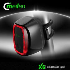 Meilan X6 intelligentes LED Fahrrad Rücklicht USB Wiederaufladbar Fahrradlicht