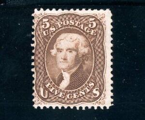 USAstamps Unused FVF US Serie of 1861 Jefferson Scott 76 Mint RG