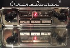 BLAUPUNKT MANNHEIM 12 Vintage Chrom Klassisch Auto FM Radio +MP3 KOMPLETT