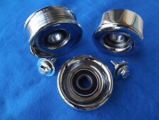"Chrome OEM 99-04 Mustang GT Cobra* Saleen 3"" Idler/Tensioner Pulley KIT, 4.6"