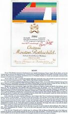 PAUILLAC 1E GCC LITHOGRAPHIE CHATEAU MOUTON ROTHSCHILD 1984  §06/03/17§