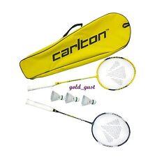 NEW CARLTON BADMINTON SET -  2 PLAYER - 2 RACKETS 3 SHUTTLECOCKS 1 COVER BAG