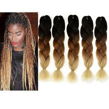 5packs 24'' Jumbo Kanekalon Afro Braiding Ombre Hair 100g/pc Black/Brown/Blonde