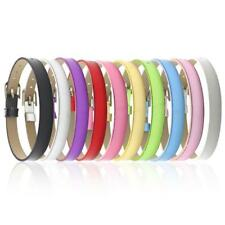 10 Faux Leather Bracelet Cuff Thin Belt Slide Charms Wristband DIY Craft
