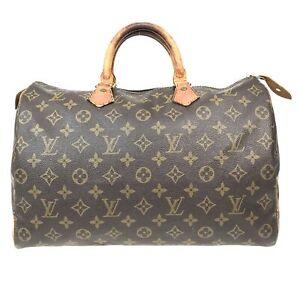 100% Authentic Louis Vuitton Monogram Speedy 35 Handbag M41524 [Used] {08-0372}