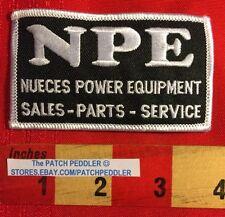 NPE PATCH NUECES POWER EQUIPMENT CORPUS CHRISTI TX. HEAVY MACHINERY  58OO