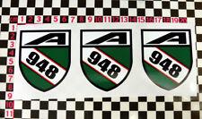 3 x BL BMC 948 Engine Stickers - Frogeye Sprite Morris Minor A30 A35