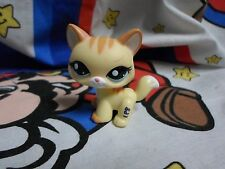 Littlest Pet Shop LPS #2034 Yellow Orange Striped SHORTHAIR CAT Green Eyes Meow