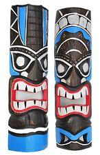 2 Tiki Masques 50cm 2 Tiki Masques muraux Masque en bois pour Hobby ou salon