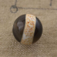 Dzi bead Perle tibetaine medecine Gzi Agate Pure Feng Shui 1071  B17