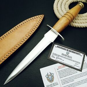 12 INCHES CUSTOM HANDMADE STAINLESS STEEL HUNTING BOOT KNIFE - WOOD - SB-2331