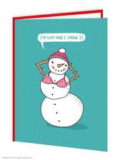 BrainBox CANDY Navidad Tarjetas Regalo Divertido Humor Broma Muñeco de nieve