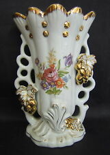 GRAND VASE PORCELAINE PARIS NAPOLEON III DECOR FLORAL