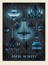 Jack White Stripes Poster 2014 L'Olympia Paris France N1 Signed & Numbered #/200