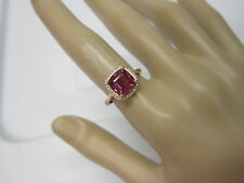 GORGEOUS ESTATE 14 KT GOLD 2.30 CTW VIVID RUBELLITE AND DIAMOND RING !!!!!!!