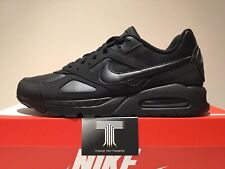 "Nike Air Max Ivo Leather ""Triple Black"" ~ 580520 002 ~ Uk Size 9.5 ~ Euro 44.5"
