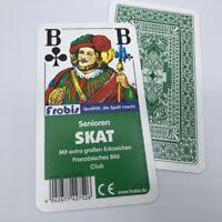 10 Senioren Skat Kartenspiele Club Französisches Bild, Spielkarten von Frobis
